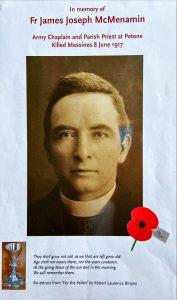 ANZAC Day – remembering Fr McMenamin